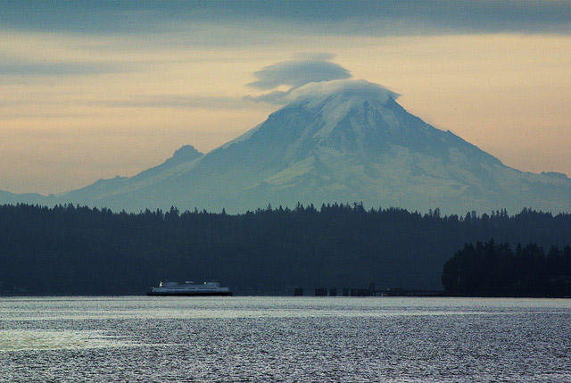 Mt. Rainer seen from Vashon Island